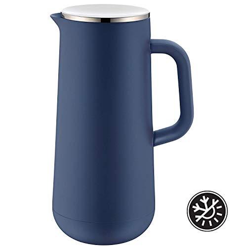 WMF Isolierkanne Thermoskanne Impulse prussian, 1,0 l, für Kaffee oder Tee Drehverschluss hält Getränke 24h kalt und warm, blau