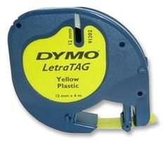 LABEL-TAPE-PLASTIC-YELLOW-12MMX4M-S0721620-By-DYMO