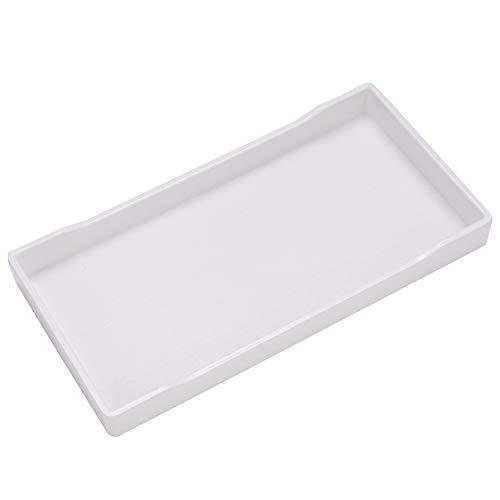 Bicaquu Plastikantirutsch-Haustier-Schildkröten-Chamäleon-Quadrat-Eidechsen-trinkender Nahrungsmittelzufuhr-Teller(Weiß)
