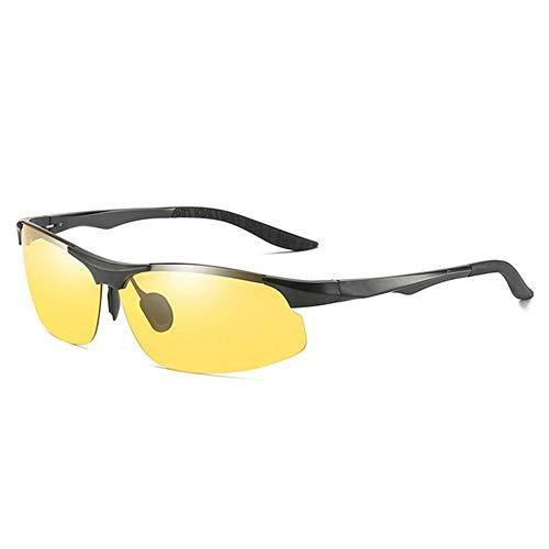 Sxuefang Sonnenbrillen Polarisierte Sonnenbrille Tag Nacht Photochrome Polarized Herren Sonnenbrille für Fahrer Frauen Anti-UV Männliche Sicherheit Fahren Angeln UV400 Sonnenbrille
