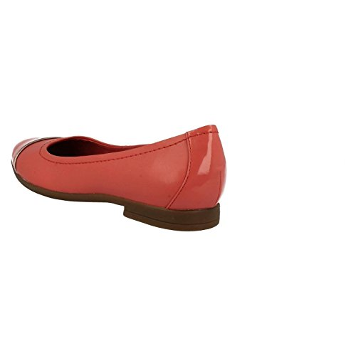Clarks Damen Atomic Haze Sneakers Korallenrot