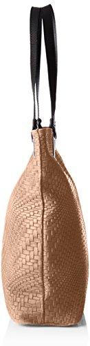 Chicca Borse Damen 80060 Shopper, 40 x 34 x 10 cm Grau (Fango)
