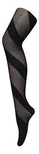 Sock snob - 1 paia calze collant donna 40 den eleganti disegni fantasia (schwarz razor)