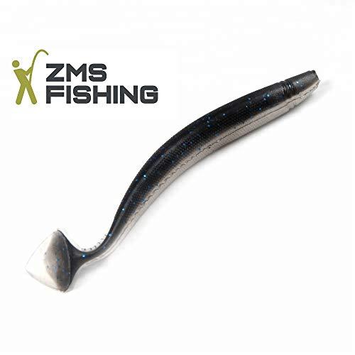 ZMS Fishing -Zanderhunter- 5-Teiliges-Set Gummifische (13 cm/9 g), Ideal für Zander, Hecht und Barsch Angeln UVM. Top Raubfisch Köder. Ultra Soft. -