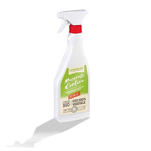 raccolto.bio macerato d'ortica 100% vegetale, potente repellente naturale contro i parassiti delle piante 0,5 l