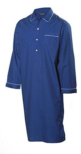 Preisvergleich Produktbild Lloyd Attree & Smith Herren Luxus Nachthemd - 100% Baumwolle - Dunkelblau (Größe L)