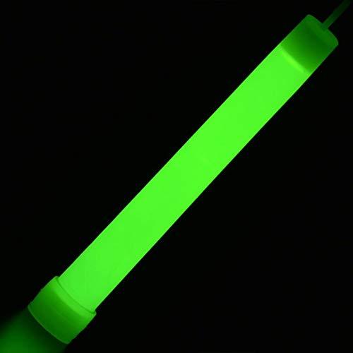 6-Zoll-Leuchtstäbe LED Kunststoff-Sticks Zauberstäbe Rallye Rave Cheer Batons Party blinkende Knicklicht mit Haken für Camping (Farbe: grün)