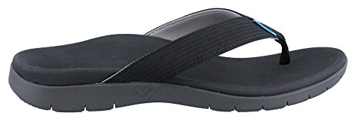 Vionic Mens 544 Mislander Nylon Sandals Black