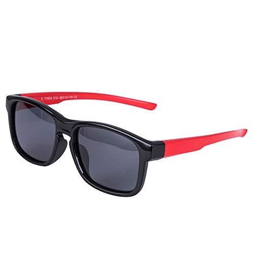 Kindersportart Polarisierte Sonnenbrille Flexibler Gummirahmen Für Jungen, Mädchen, Baby Und Kinder K001 (Color : C1)