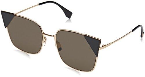 Fendi ff 0191/s 2m 000, occhiali da sole donna, oro (rose gold/brown ar), 55