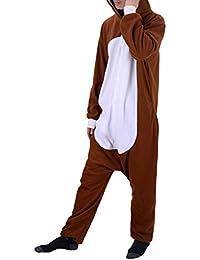 4e34ea707b66 WhiFan Pigiama Unicorno Donna Uomo Cosplay Animato Costume Camicie da Notte  Carnevale Halloween