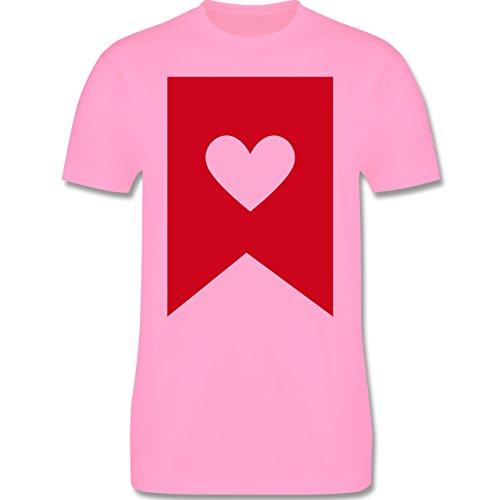 Symbole - Herz - Herren Premium T-Shirt Rosa