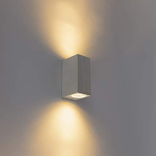 QAZQA Diseño Aplique pared BALENO II Acero inoxidable