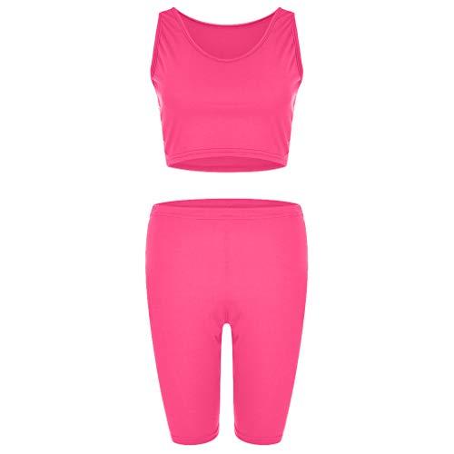 Damen Laufen Fitness Yoga Anzug, LeeMon Frau Mode Luminous Sports Loose Sportanzug Loose Casual Shorts