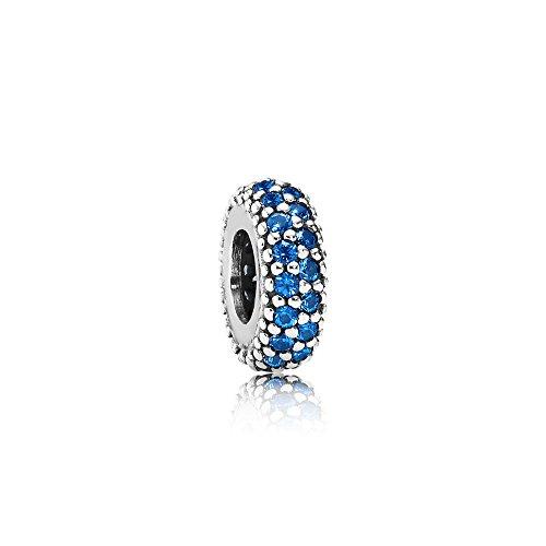 Pandora Damen Moments Blaues Funkelndes Zwischenelement Sterling Silber 791359NCB