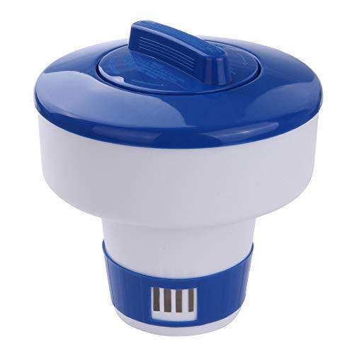Blueborn XL Dosierschwimmer CP-7 großer Chlorspender Chemikalienspender für 4x 200g Chlor-Tabletten