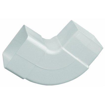 GENOVA PRODUCTS - Gutter Downspout Elbow, White Vinyl, 90 Degree