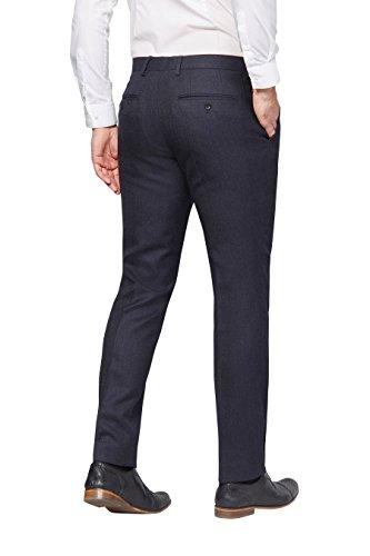 next Uomo Completo Blu Navy In Lana Britannica Pantaloni Con Vestibilità Sartoriale Blu