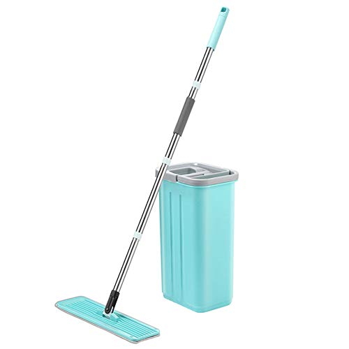 Glomixs Flat Rotary Mop with Bucket Suit Hand-Free Wringing Floor Cleaning Mop Save Time Energy