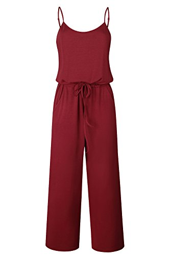 Yidarton Sommer Floral Bedruckte Jumpsuit Damen Halfter ärmellose breite Lange Hosen Jumpsuit Strampler Lange Frauen Jumpsuits