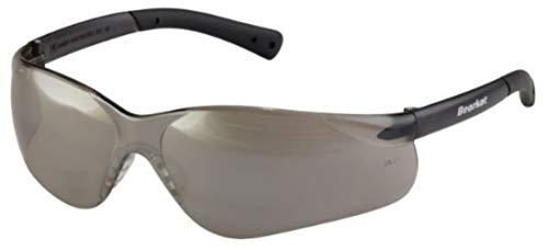 BEARKAT ES SPIEGEL Verspiegelt Sonnenbrille Silber Grau für Herren & Damen UV400 Umlaufende Stoßfest Sportbrille für Autofahren Motorrad Laufen Radfahren Tennis - Schnur, Beutel und Extremsport Band