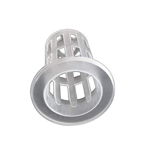 Hanbaili Pépinière Pots de maille filet Net Pots de pépinière Mini bacs de semences hydroponiques en plastique sans terre 10p durables