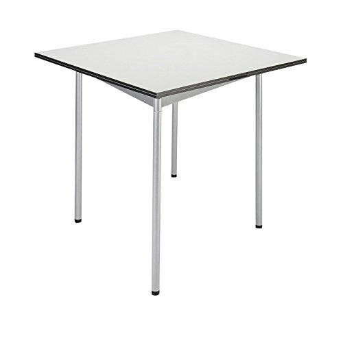 Jonas & Jonas Turn Table Klapptisch 80x80x74cm, weiß 085 FH HPL Vollkernkunststoff 10mm Kante schwarz Gestell grau metallic pulverbeschichtet -