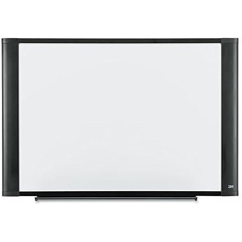 Dry-Erase Board, Melamine, 3 #39;x2 #39;, Graphite Frame by 3M