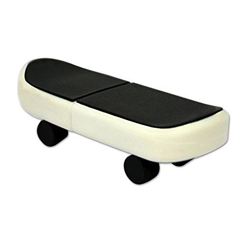 818-Shop No3800040016 USB-Sticks (16 GB) Skateboard Schwarz Weiß
