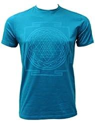 """'Yogi-Camiseta """"Sri Yantra, Men–Petrol Petrol Yogi Star, color petróleo, tamaño small"""