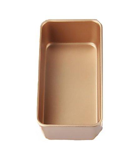 Golden Toast Box Kuchenform Antihaft- Rechteckige Backform,20.5*10.5*6.5cm