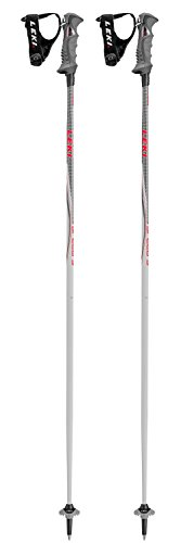 Leki Erwachsenen Ski-Stock Skistock Speed S Airfoil Skark System anthrazit schwarz weiß, Länge:135
