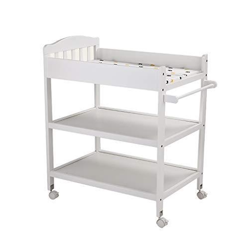 Wickeltisch äNdern Der Einheitsstation/Windeltabelle Beweglicher Wickeltisch  Massivholz Touch Table Massagebett Mit RäDern