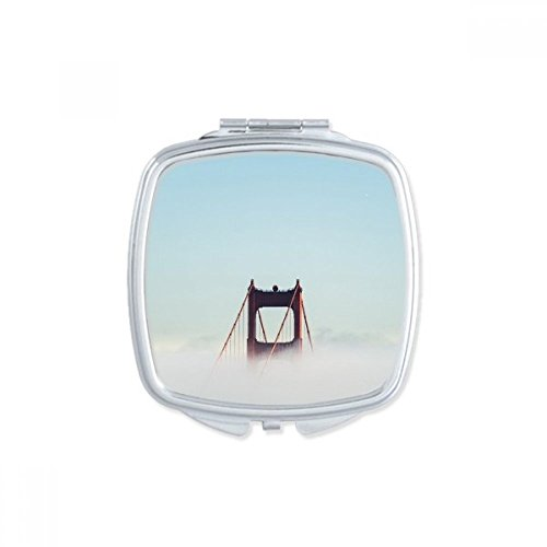 DIYthinker Brouillard Golden Gate Bridge Bay Pont Suspendu Nuage Place Makeup Compact Miroir de Poche Miroirs Mignon Petit Cadeau Portable à la Main