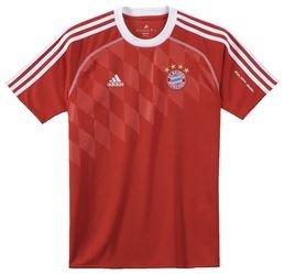 Adidas Maillot d'entraînement pour enfant aux couleurs du FC Bayern de Münich Rouge Rouge/Blanc 12 ans
