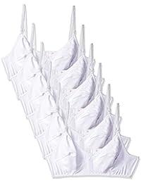 Fabme Women's Double Layer, Hosiery Cotton Bra (Pack of 6)