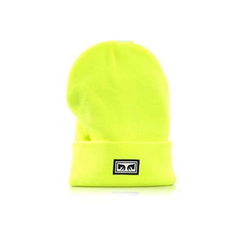 Imagen de obey gorro de punto para hombre amarillo amarillo fluo talla  única ... e6cb1fc22ae
