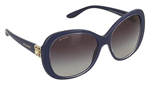 Bvlgari Unisex Adults' 8171 Sunglasses, Black (Top Crystal on Bluee),