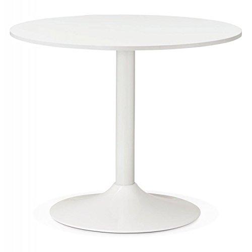 Paris Prix - Table D'appoint Design Vanta 90cm Blanc