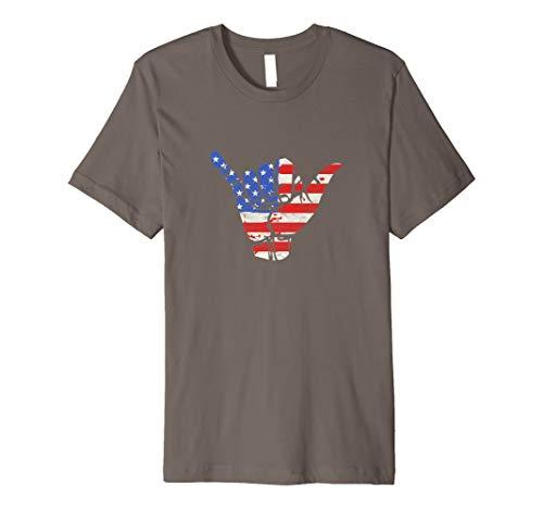 7050e74e American flag shaka shirts the best Amazon price in SaveMoney.es
