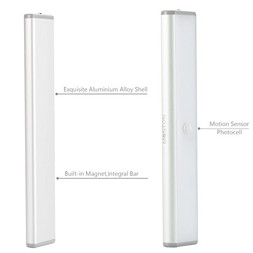 Moston-10-LED-USB-Recargable-magntico-Movimiento-Sensor-Luces-nocturnasoscuridad-a-amanecer-Clula-fotoelctrica-incluido-Auto-enapagado-Porttil-Sin-cablepalo-en-cualquier-sitio-para-armario-ArmarioPack