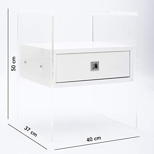 Fimel Comodino in Plexiglass   Spessore da 8 mm   Ideale per Camera ...