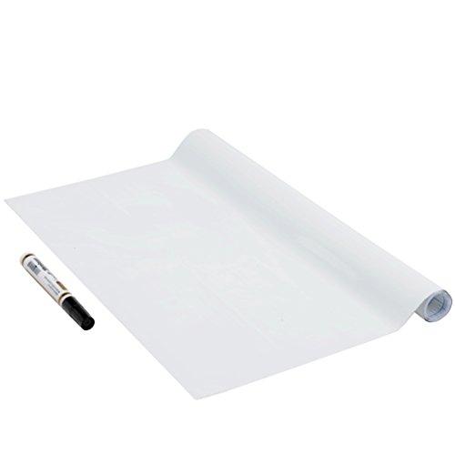 Tafelfolie Whiteboard Schreibtafel-Folie inkl. Stift selbstklebend, weiss, ohne Phthalate, 45 cm x 1,5 m, 150µm (Stärke: 0,15 mm), Venilia 53005