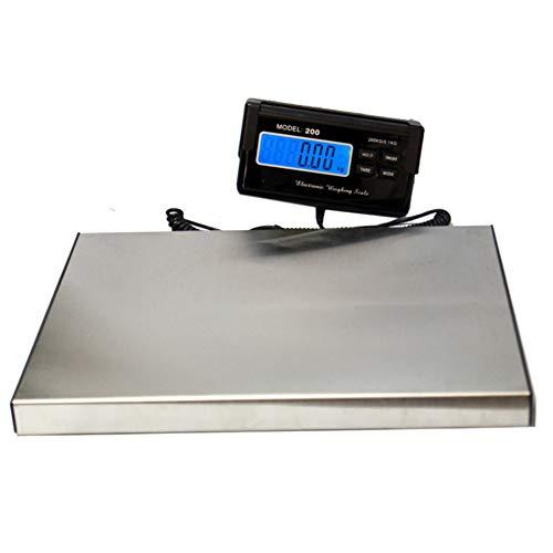 Xasclnis Post-Digital-Paket-Skala der Edelstahlpostpost-Skala 300kg / 0,1kg (Color : Silver)