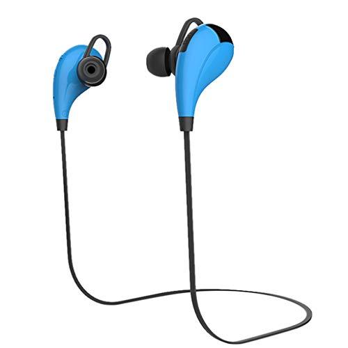 Yowablo Bluetooth Sport Kopfhörer Hängender Hals Metall Ohr Shell Gute Klangqualität ( Blau )