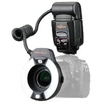 Mcoplus Skyblue MK-14EXM - Flash de anillo para fotografía Macro para cámaras Nikon (luz LED, compatible con todas las cámaras Nikon D7100, D7000, D5200, D5000, D5100, D3200, D3100, D3000, D3 series, D800, D700, D600, D2 series, D300 series, D200, D90, D80s D70 series, D60, D50, D40 series, F6, Nikon COOLPIX: COOLPIX8800, COOLPIX8400, COOLPIX P5000, COOLPIX P5100,COOLPIX P6000 Olympus E5 E620 E600 E420 E450 E520 E3 Pentax K-r K-x K-5 K-7 K-m K-10D K-200D FUJI: S5 Pro)