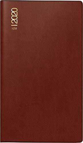 rido/idé 704030229 Taschenkalender TM 12 (2 Seiten = 1 Monat, 87 x 153 mm, Kunststoff-Einband bordeaux, Kalendarium 2020, plus Ausklappteil)