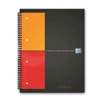 oxford notizbuch a4 80g qm kariert perforiert mit kopfzeile 80 blatt b robedarf. Black Bedroom Furniture Sets. Home Design Ideas