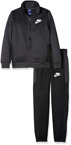 Nike Jungen Sportswear Pac Polyester Trainingsanzug, Anthracite/Black/White, M