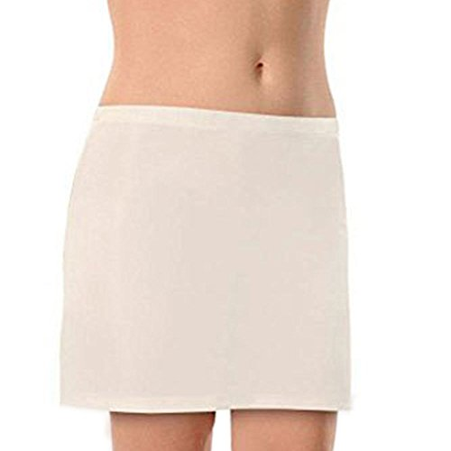 NBB Lingerie Damen Unterrock Mini Underskirt Jupon Unterkleid Damen (38 – Medium, Weiß)